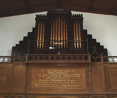 All Saints Southill organ